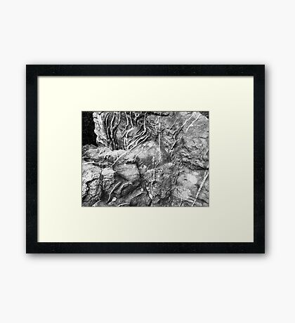Scarred Stone Framed Print