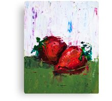 Strawberries in Heat Canvas Print