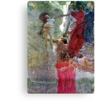 Gustav Klimt Composition for Medicine Canvas Print