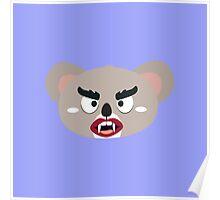 Koala vampire head Poster