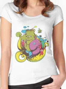 monster zombie Women's Fitted Scoop T-Shirt