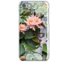 Pink Water Lilies And Turtle iPhone Case/Skin