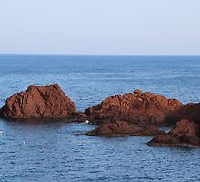 Red Rocks Islands - Cannes, France. by Tiffany Lenoir