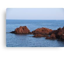 Red Rocks Islands - Cannes, France. Canvas Print