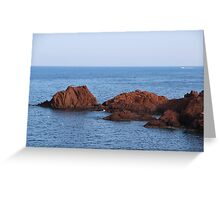Red Rocks Islands - Cannes, France. Greeting Card