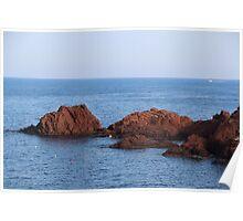 Red Rocks Islands - Cannes, France. Poster
