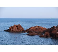 Red Rocks Islands - Cannes, France. Photographic Print