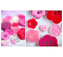 Buttons of Love Photographic Print