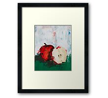 The Last Red Apple Framed Print