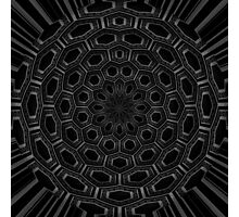 radial abstract black and white Photographic Print