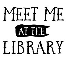 Meet me at the library Photographic Print