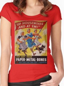 Vintage poster - Up Housewives and at'em Women's Fitted Scoop T-Shirt
