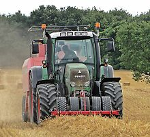 Straw Baling by Barrie Woodward
