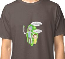 Rick and Morty On T-Shirt Classic T-Shirt
