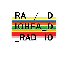 Radiohead In Rainbows Color Lines Photographic Print