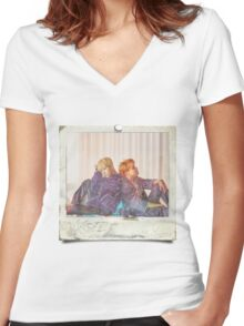 WINGS_Bangtan_Taehyung+JHope Polaroid Women's Fitted V-Neck T-Shirt