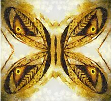 Golden Butterfly Photographic Print