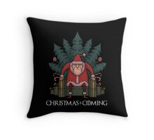 Santa Of Thrones - Christmas Is Coming Throw Pillow