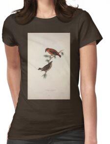 John Gould The Birds of Europe 1837 V1 V5 202 Common Crossbill Womens Fitted T-Shirt
