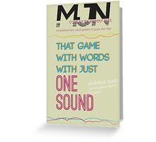 MJN Air: Word Games #4 Greeting Card