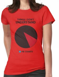 Things I don't understand: Pie Charts Womens Fitted T-Shirt