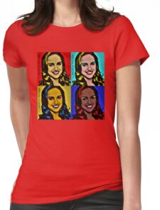 natalie popart  Womens Fitted T-Shirt