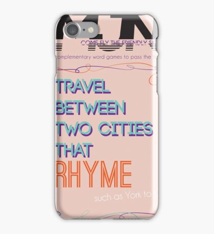 MJN Air: Word Games #3 iPhone Case/Skin