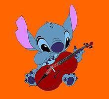 Stitch and a cello orange  by eleanor89