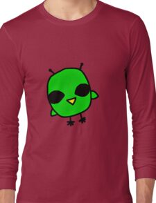 super cool alien bird Long Sleeve T-Shirt