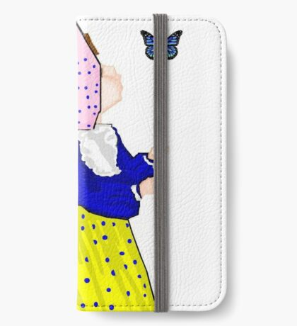 Pink Sunbonnet Girl Thinking of You iPhone Wallet/Case/Skin