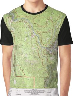 USGS TOPO Map California CA Cant Hook Mountain 100491 1997 24000 geo Graphic T-Shirt