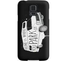 Home is Where You Park It - White Samsung Galaxy Case/Skin