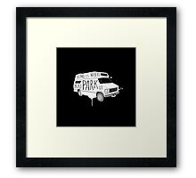 Home is Where You Park It - White Framed Print