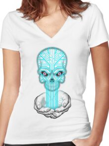 Digital Killed The Analogue Star Women's Fitted V-Neck T-Shirt
