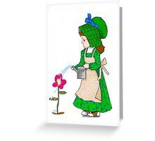 Green Sunbonnet Girl  Greeting Card