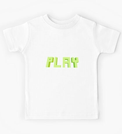 PLAY 3D Blocky Text Kids Tee