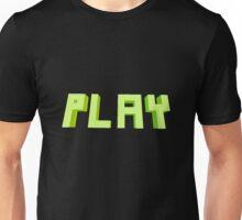 PLAY 3D Blocky Text Unisex T-Shirt