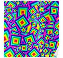 Tumbling Colored Blocks Poster