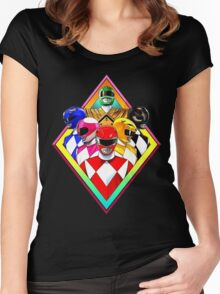 POWER RANGERS Women's Fitted Scoop T-Shirt
