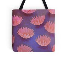 Sunset Water Lilies Tote Bag