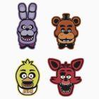Freddy Stickers by DisfiguredStick