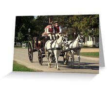Colonial  Taxi Greeting Card