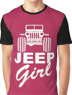 Jeep girl White Graphic T-Shirt