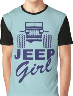 Jeep Girl Purple Graphic T-Shirt