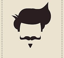 Hipster vintage hair style and mustache by BlueLela