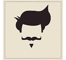 Hipster vintage hair style and mustache Photographic Print