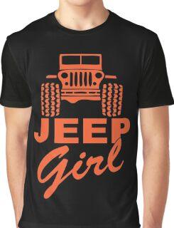 Jeep Girl Orange Graphic T-Shirt