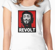 ANONYMOUS REVOLT Women's Fitted Scoop T-Shirt