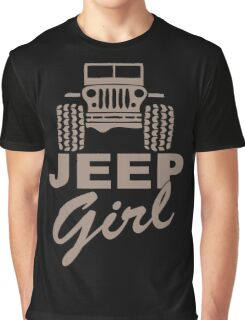 Jeep Girl Brown Graphic T-Shirt
