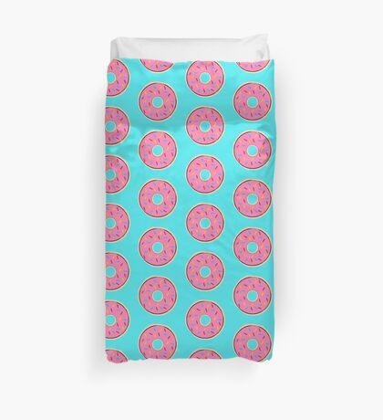 Pink Donut Duvet Cover